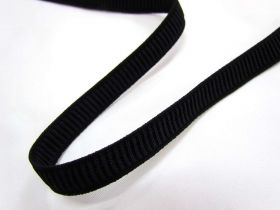 Great value 12mm Ribbed Elastic- Black available to order online Australia