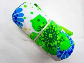 Great value 1m Precut Havaiana Floral Spandex Mini Roll- Blue/Green available to order online Australia