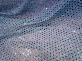 Great value 3mm American Sequins- Red on Blue available to order online Australia