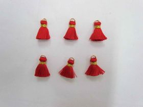 Great value Mini Viscose Tassels- Red- 6 for $3 available to order online Australia