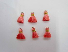 Great value Mini Viscose Tassels- Coral- 6 for $3 available to order online Australia