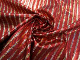 Great value Fog Finish Cabaret Stripe Spandex- Red / Gold #2766 available to order online Australia