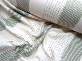 Great value Bobbi Stripe Wool Flannel- Olive Branch available to order online Australia