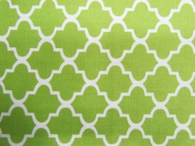 Great value Quatrefoil Cotton- Lime #PW1130 available to order online Australia