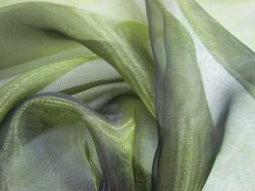 Great value Wide Width Glass Organza- Shot Olive available to order online Australia