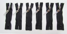 Great value Zip Bundle- BLACK- Luxe Lucite Zipper Pull- 10cm Closed End Zips- 6 for $5 available to order online Australia