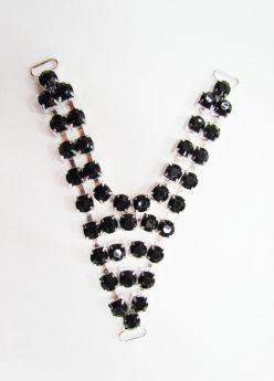 Great value Diamante Rhinestone Trim Insert- Black available to order online Australia