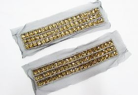 Great value Rhinestone Soft Mesh Motif- Leopard Black- 2 for $5 available to order online Australia