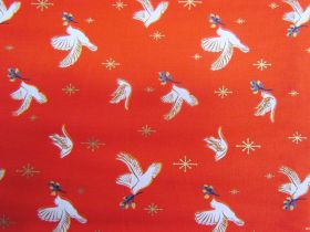 Great value Ruby Star Society Cotton- Candlelight- Doves- Poinsettia 35-15M available to order online Australia