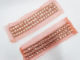 Great value Rhinestone Soft Mesh Motif- Peach Pink- 2 for $5 available to order online Australia