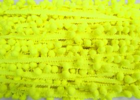 Great value Pom Pom Trim- Highlighter Yellow #479 available to order online Australia