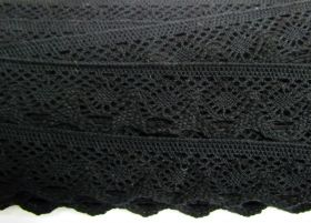 Great value 37mm Cotton Lace Trim- Noir Black #481 available to order online Australia