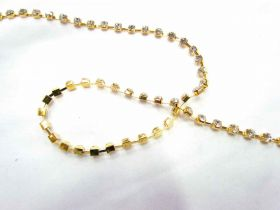 Great value 4mm Diamante Trim- Gold available to order online Australia