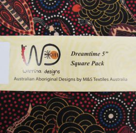 Great value Dreamtime 5 inch Square Charm Pack- Red Colour Theme available to order online Australia
