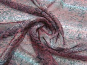 Great value Snake Print Yoryu Chiffon- Burgundy #2863 available to order online Australia