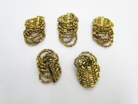 Great value Gold Beaded Embellishments- RW236- 5 for $3 available to order online Australia