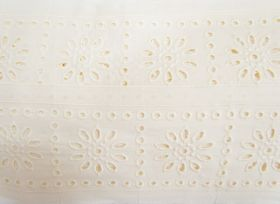 Great value 85mm Sunny Girl Broderie Anglaise Trim- Cream #228 available to order online Australia