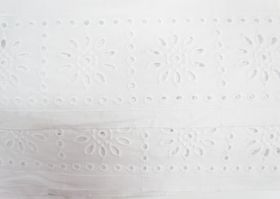 Great value 85mm Sunny Girl Broderie Anglaise Trim- White #229 available to order online Australia