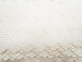 Great value 10cm Juliet Broderie Anglaise Trim- Cream #233 available to order online Australia