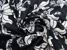 Great value Blissful Blossom Lightweight Spandex- Black #4893 available to order online Australia