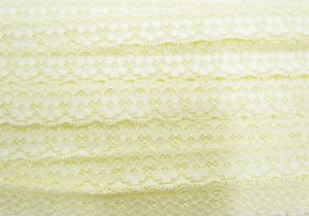 Great value 25mm Stella Stretch Lace Trim- Butter Yellow #242 available to order online Australia
