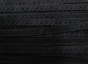 Great value 12mm Itsy Bitsy Stretch Lace Trim- Black #245 available to order online Australia