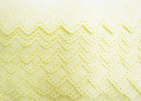 Great value 55mm Delightful Bouquet Broderie Anglaise Trim- Sunny Yellow #246 available to order online Australia