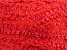 Great value 50mm Lace Garter Elastic Trim- Red #254 available to order online Australia