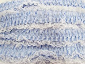 Great value 50mm Lace Garter Elastic Trim- Blue #252 available to order online Australia