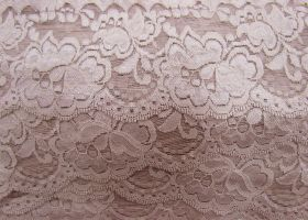 Great value 85mm Giselle Stretch Floral Lace Trim- Dusty Rose #261 available to order online Australia