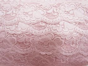 Great value 85mm Giselle Stretch Floral Lace Trim- French Rose #262 available to order online Australia