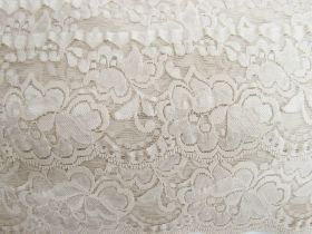 Great value 85mm Giselle Stretch Floral Lace Trim- Pearl Beige #263 available to order online Australia