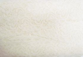 Great value 55mm Josephine Stretch Floral Lace Trim- Cream #270 available to order online Australia