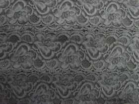 Great value 55mm Josephine Stretch Floral Lace Trim- Grey #269 available to order online Australia
