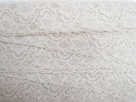 Great value 55mm Josephine Stretch Floral Lace Trim- Pearl Beige #268 available to order online Australia
