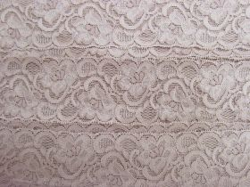 Great value 55mm Josephine Stretch Floral Lace Trim- Dusty Rose #267 available to order online Australia