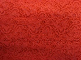 Great value 55mm Josephine Stretch Floral Lace Trim- Red #266 available to order online Australia