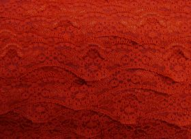 Great value 40mm Wave Edge Stretch Floral Lace Trim- Red #277 available to order online Australia