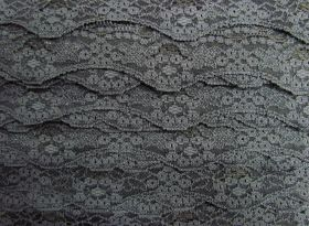 Great value 40mm Wave Edge Stretch Floral Lace Trim- Grey #276 available to order online Australia