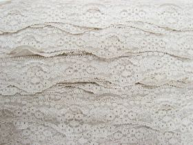 Great value 40mm Wave Edge Stretch Floral Lace Trim- Pearl Beige #273 available to order online Australia