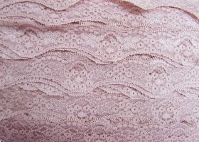 Great value 40mm Wave Edge Stretch Floral Lace Trim- French Rose #274 available to order online Australia