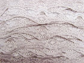 Great value 40mm Wave Edge Stretch Floral Lace Trim- Dusty Rose #279 available to order online Australia