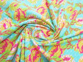 Great value Noosa Floral Metallic Stripe Spandex #2962 available to order online Australia
