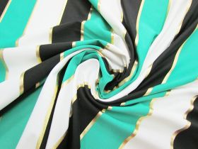 Great value Lucky Foil Stripe Spandex #2964 available to order online Australia