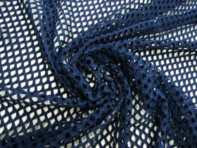Great value Stretch Fishnet Mesh- Navy #4943 available to order online Australia