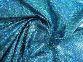 Great value Dark Shattered Glass Spandex- Aqua on Black available to order online Australia