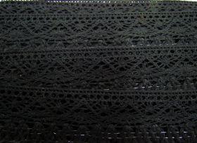 Great value 55mm Naomi Fringe Cotton Lace Trim- Black #308 available to order online Australia