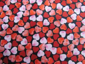 Great value Confetti Hearts Cotton- Black #PW1272 available to order online Australia