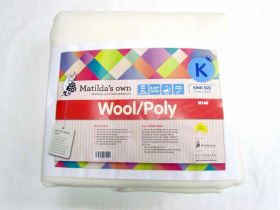 Great value King Size Matilda's Own M140 Wool / Poly Precut Wadding available to order online Australia