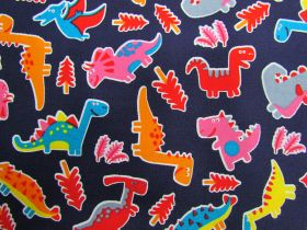 Great value Dinosaur Dance Cotton- Navy #PW1244 available to order online Australia
